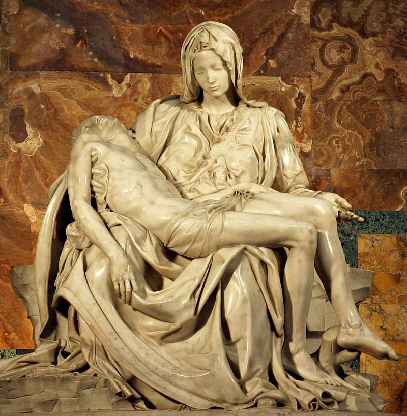 Лучшие Римские художники эпохи Возрождения — где посмотреть их искусство Michelangelos Pieta at Saint Peters Basilica